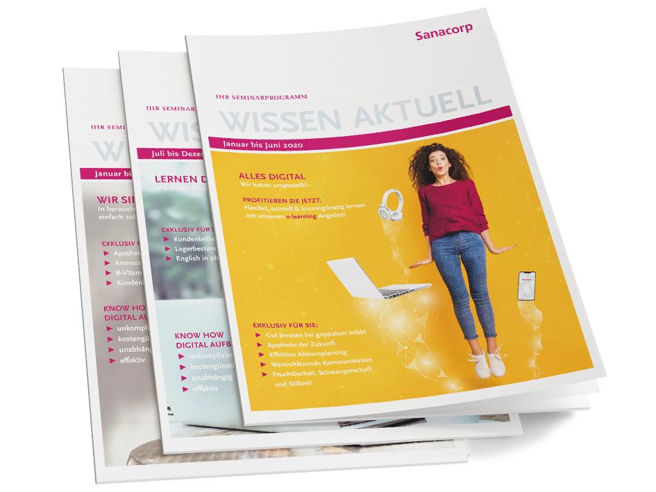 Seminarkatalog / Broschüre für die Sanacorp Pharmahandel GmbH