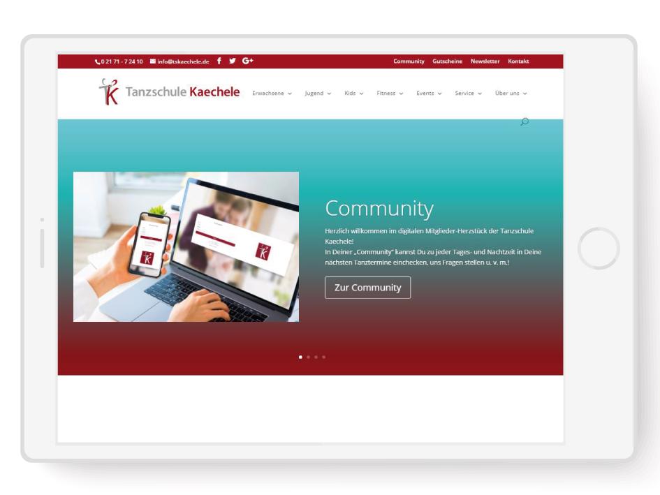 Webseite der Tanzschule Kaechele